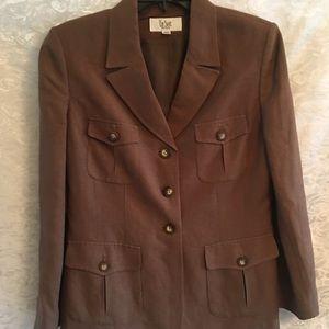 Le Suit Jacket Linen Brown 10P
